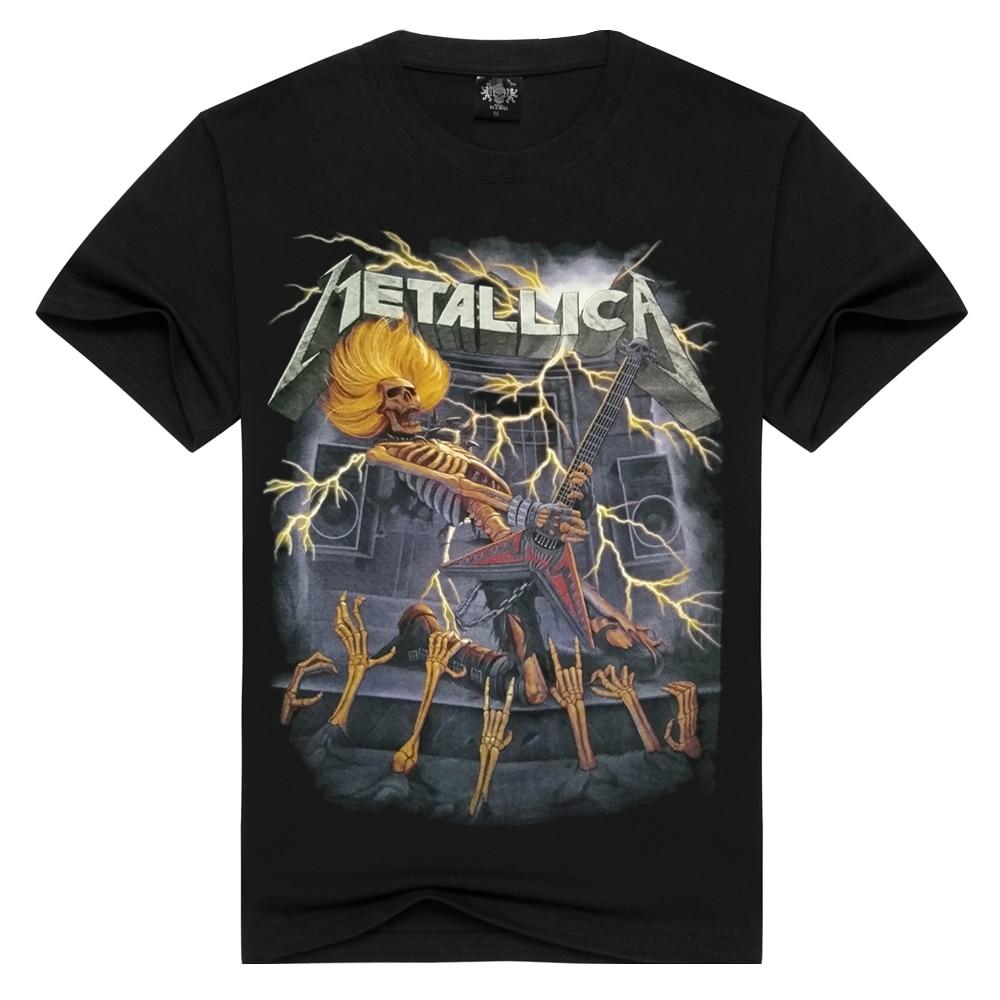 Men/Women Metallica   t     shirt   heavy metal tshirts Summer Tops Tees   T  -  shirt   Men Rock band Thrash Metal   t  -  shirts   Plus Size