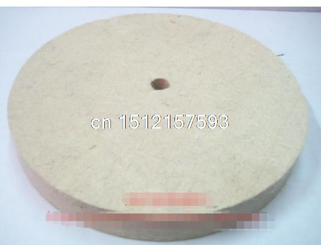 1pc 150mm Felt Wool Buffing Polishing Wheels Pads Polisher Size 150mm(OD)*30mm(TH)*10mm(ID) 1pc white or green polishing paste wax polishing compounds for high lustre finishing on steels hard metals durale quality