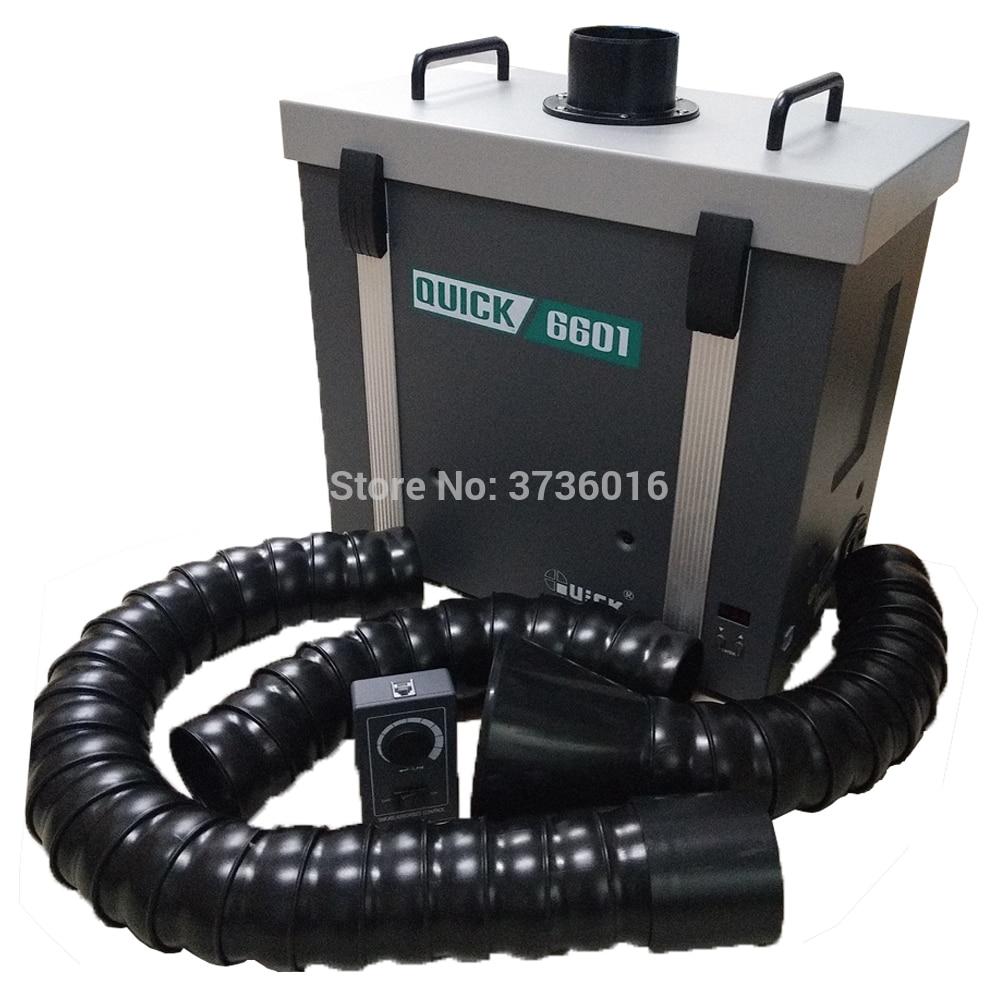 QUICK 6601 système de filtre de purification professionnel purificateur de fumée utilisation pour atelier de réparation de téléphone portable utilisation outil de réparation lcd