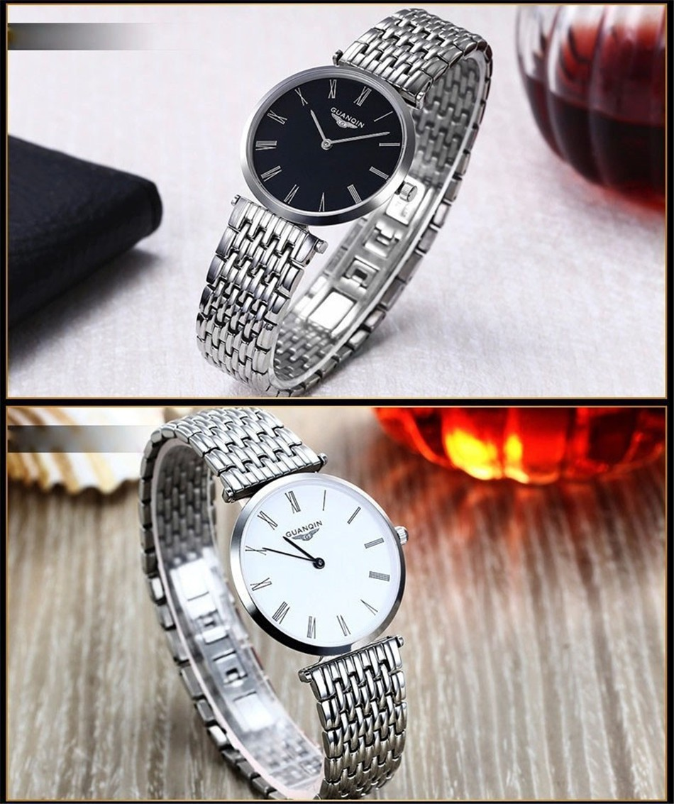 GUANQIN Women Watches 2017 Luxury Top Brand Watch Women Casual Fashion Gold Silver Steel Quartz Girl Watches relogio feminino (14)