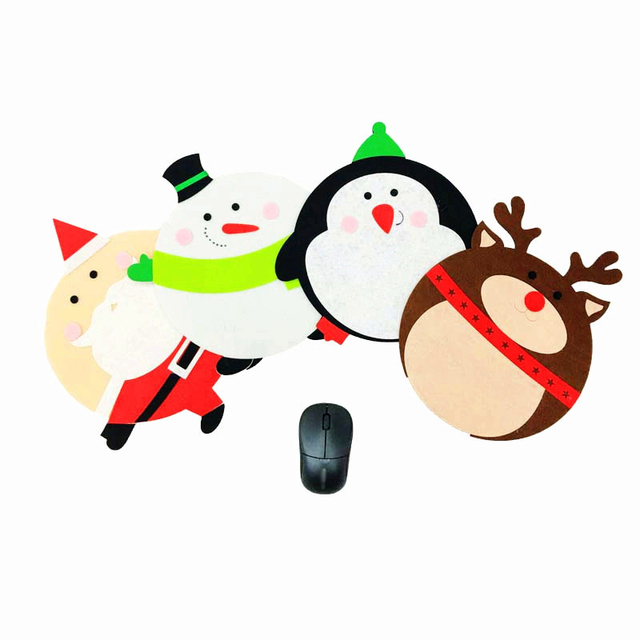new 4pcs computer mouse mat christmas decorations christmas decorations for home arvore de natal gift for