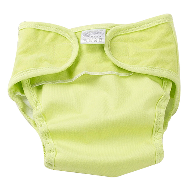 Hilenhug Baby Diaper Cover Panties Cotton Nappies for 0-12 Months Boys Girls Toddler Kids Reusable Washable Pure Color Nappy