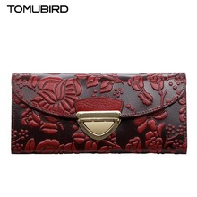 free delivery Cow Leather women bag Chinese wind embossed cross section wallet Retro envelope package