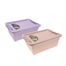 2Pcs Lot New Storage Thick Plastic Storage Basket Top Quality Portable Carry Plastic Container Holder Folding