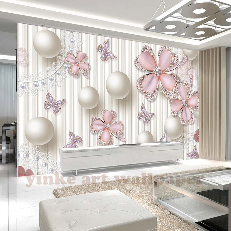 Custom Photo Wall Paper 3D Stereo dandelion Circle Mural Wallpaper ...