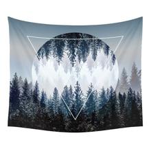 Ciel de nuit tapisserie belles décorations pour la maison tenture murale forêt étoilée nuit tapisseries pour salon chambre