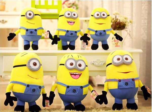 50cm/85cm anime toy 3D eye large minion plush doll toy, giant minions pelucia, stuffed minion toy for children 2016 special offer toys minion minions anime hand wholesale evangelion series doll pop new seven seas after 2 duolafaerjialaoluo