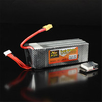 Rechargeable Lipo Battery ZOP Power 22.2V 4200mAh 6S 45C Lipo Battery XT60 Plug With Battery Alarm