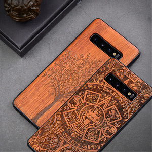 Image 1 - New For Samsung Galaxy S10 Case Slim Wood Back Cover TPU Bumper Case For Samsung S10 Samsung s20 plus s20 ultra Phone Cases
