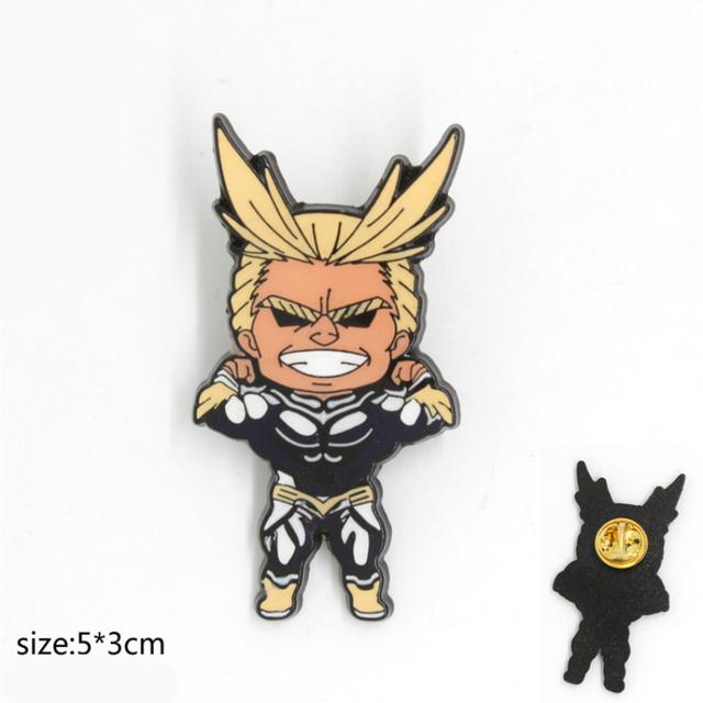 My Hero Academia Cosplay Props Badge Brooch Midoriya Izuku Bakugo Katsuki Alloy Halloween Gifts Boku No Hero Academia Pin