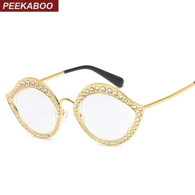 Online Shop Peekaboo vintage cat eye glasses frames for women small ...