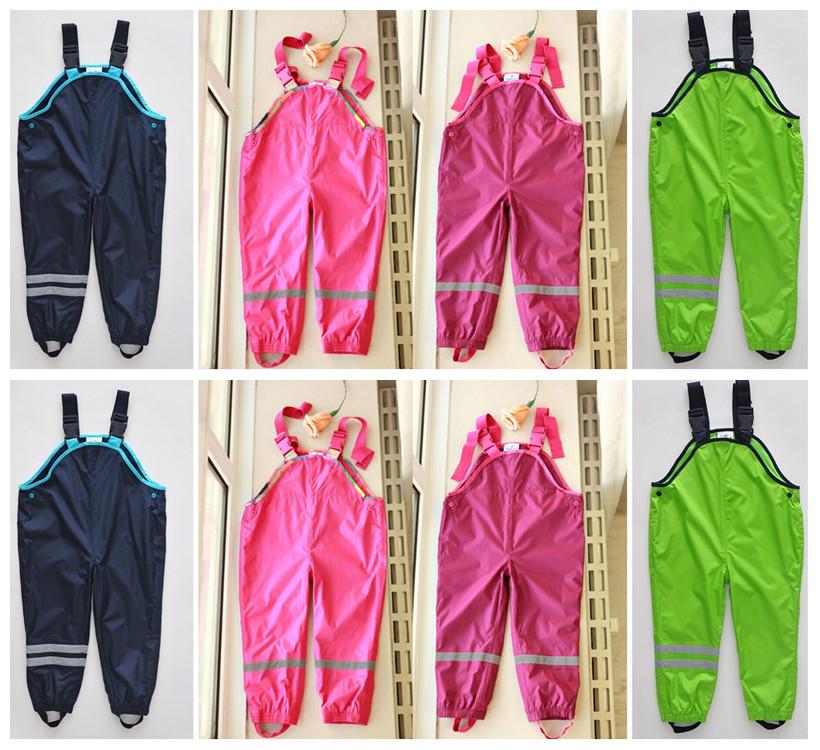 Relaxed fit trousers overalls waterproof trousers boys and girls pants children s pants brand Windproof waterproof