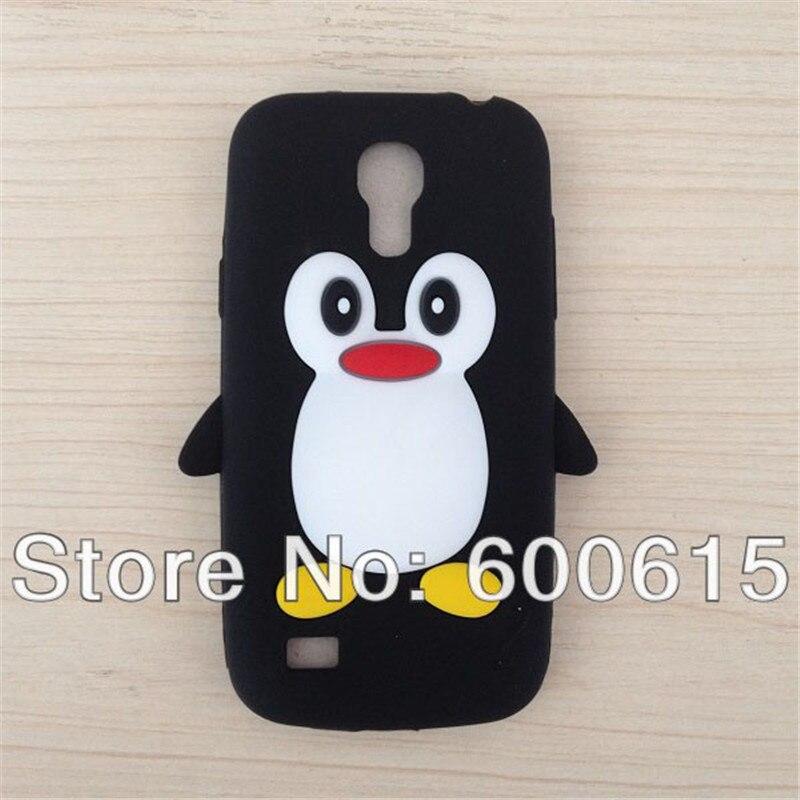 Cute 3D Cartoon Penguin Soft Silicone Case Cover for Samsung Galaxy S4 mini I9190 Skin Cove Capa