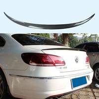 For Volkswagen VW CC Passat Spoiler 2009 2016 Car Trunk Decoration Tail Wing VOTEX Style Black Carbon Fiber Rear Wing Spoiler
