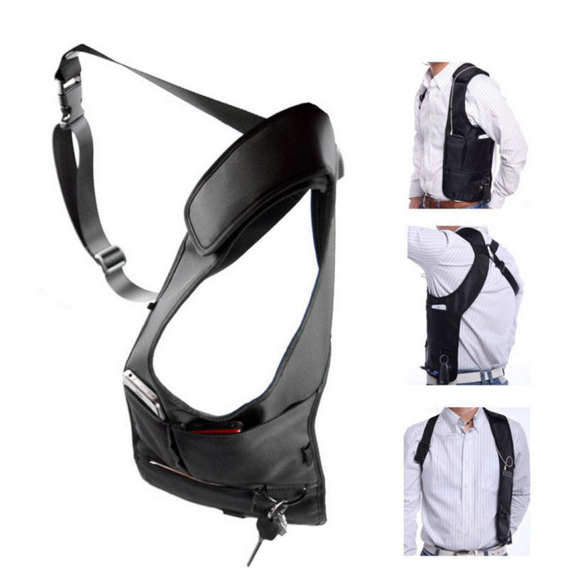 Armpit Bag With Adjustable Strap Anti-theft Portable Chest Bag Men Underarm Shoulder Hidden Multi Pockets Messenger Sling Bag