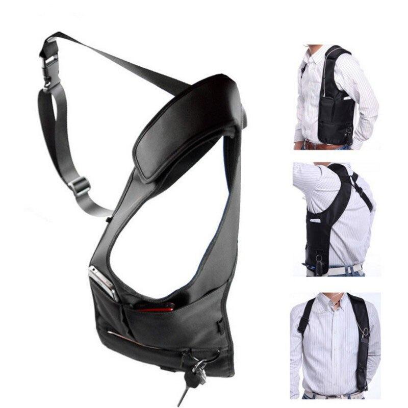 Axila saco com alça ajustável anti-roubo portátil peito saco masculino axilas ombro escondido multi bolsos mensageiro sling saco