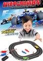 Высокая скорость гоночный трек игры Двойной рук генерируется RC слот гоночный автомобиль автомобиль игрушки для детей