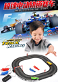 High speed track racing games Double hand generated RC slot car racing car toys  for children