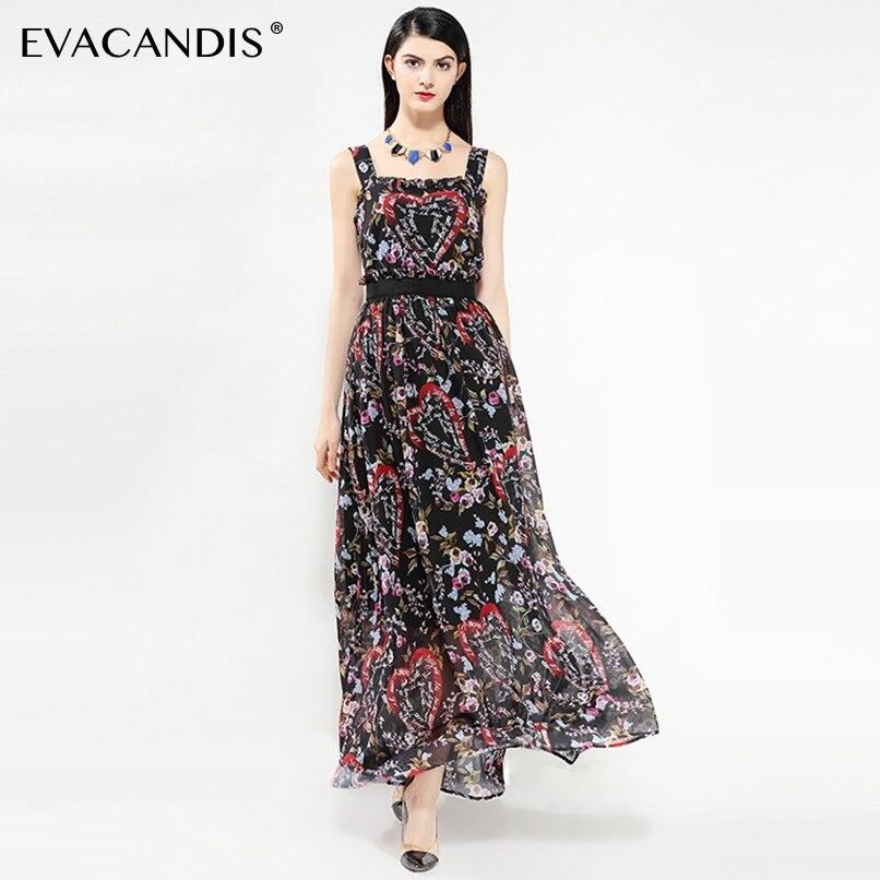 192f55360 Verano Gasa Fiesta Elegante Floral De Las Mujeres Túnica Maxi Playa Vestido  Negro Coreano Vintage Boho ...