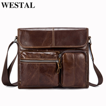 WESTAL Crossbody Bags for Men Genuine Leather Bags