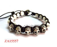 New Products For 2015 Wholesale Popular Turquoise Bracelet Skull Bracelets For Men Jewelry With Natural Stone