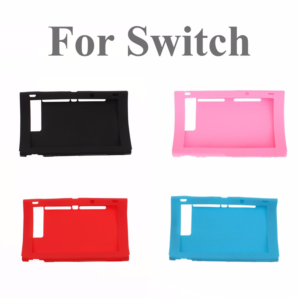 Pink Red blue Silicone Rubber Soft Host Display Screen Protective Skin Cover Case For Nintend Switch NS Console protector Shell