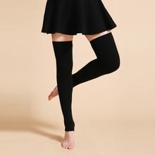 ly design women winter warm solid leg warmers wool knitting high knee socks autumn ruffle trim leg warmers boot topper socks