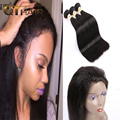 Malaysian Straight Virgin Hair With Frontal Closure 3 Bundles Straight Hair With Closure 360 Lace Frontal Closure With Bundles
