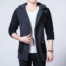 Новый Стиль Моды для Мужчин Шерстяное Пальто Зима Мужчины Шерстяные Верхняя Одежда Теплый Однобортный Куртки Случайные Пальто Мужская Одежда