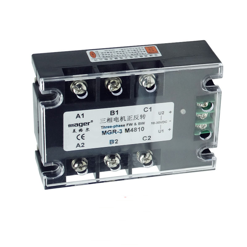 цена на Free shipping 1pc MGR3 M4810 10A AC motor positive inversion solid state relay SSR 10A Relay motor