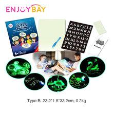 Детская светящаяся доска для рисования enjoybay светильник в