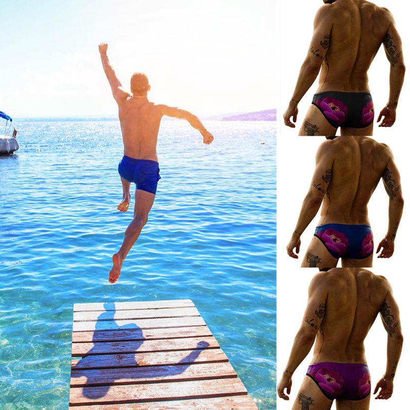 Swimwear Men Short Swimsuit Sexy Swimming Trunks Waterproof For Bathroom Bath Shorts