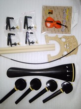 High Quality Cello Parts 4/4 Ebony tail piece & Ebony pegs with boxwood ring Plus Cello Bridge tuner etc all 4/4 SF20