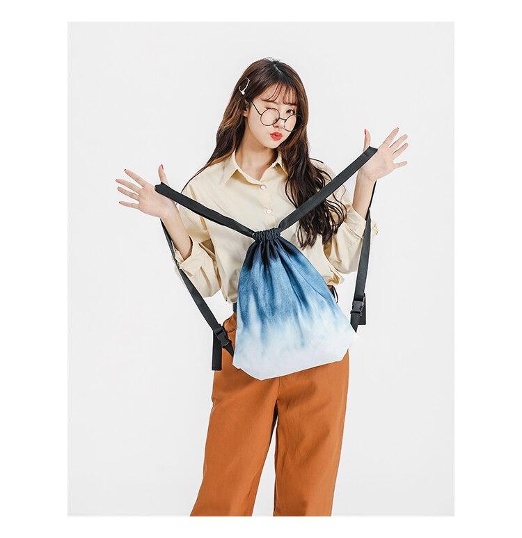 FREEIN sac à dos pour femme couleur de l'école blanc profond bleu imperméable Oxford sac à dos sac à dos femme doux intérieur Zip décontracté