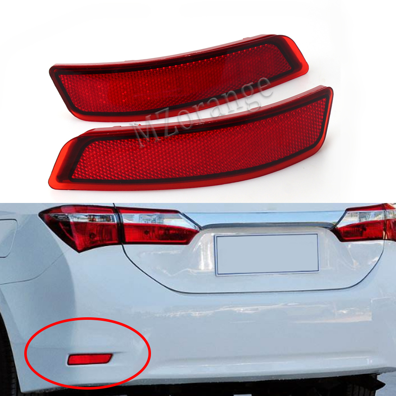 2X For Toyota Corolla 2014 2015 Lexus Car Styling Auto Rear Bumper Reflectors Light LED Brake Tail Fog Lights Turn Signals new for toyota altis corolla 2014 led rear bumper light brake light reflector novel design top quality fast shipping