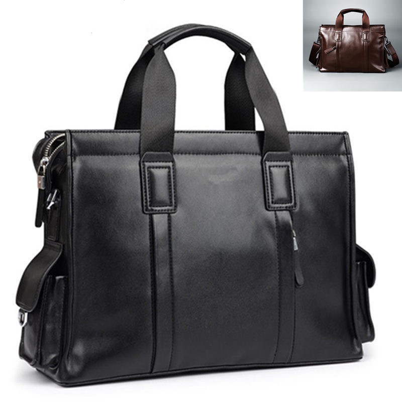Fashion NEW Designer Men bag Casual Totes Handbags Men tote Bags leather 14.6