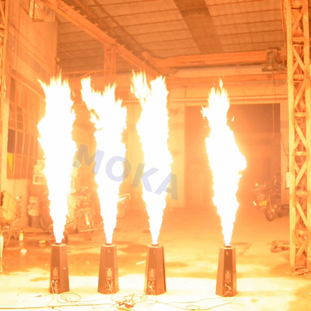2pcs/lot DMX Spray Fire Machine Stage Effect Equipment LPG Flame Projector Fire Machine Nightclub Stage Wedding Decoration