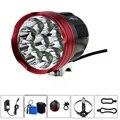 8 4 V 20000 lumen 10T6 Fahrrad licht + 12000 mah 18650 Batterie Pack Ladegerät 10 xCREE XM-L T6 LED Fahrrad licht + laser rücklicht
