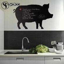 Pig Animal Chalkboard Vinyl Wall Sticker Decal Stickers Kitchen List Kids Room 38x58cm
