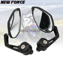 Pair 22mm CNC Aluminum Universal Motorcycle Handle Bar End Rear View Side Mirrors for Honda Scooter Yamaha Modified Accessories