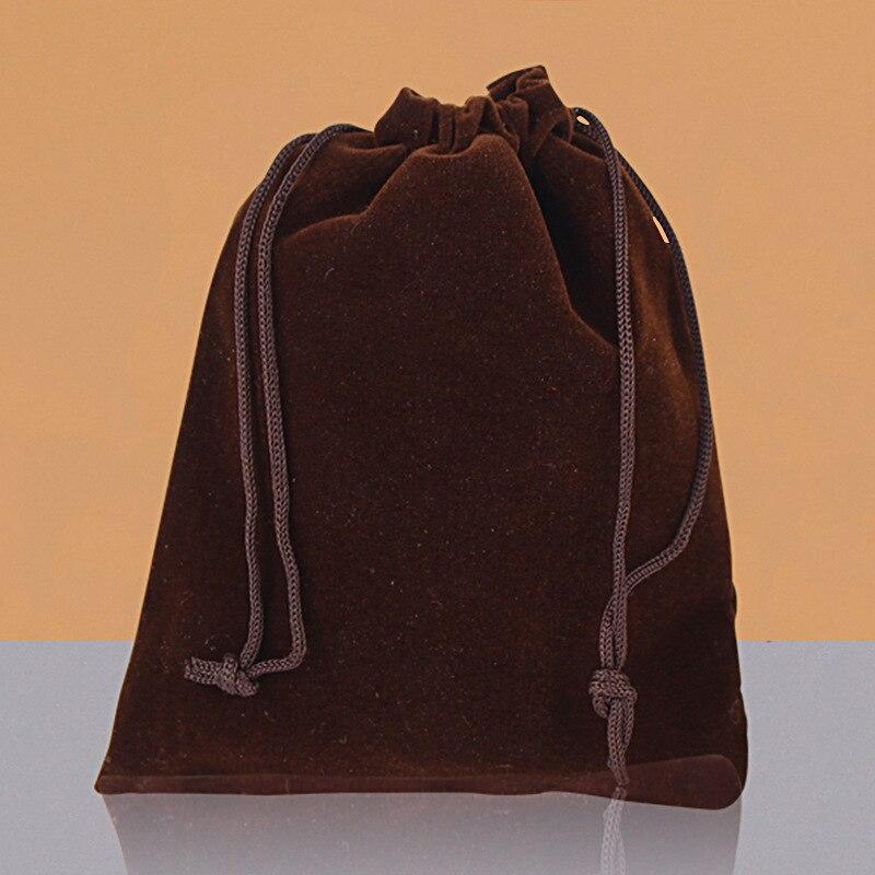 100 pcs/Lot 7x9cm Jewelry Packing Velvet bag,Velvet Drawstring bags & Pouches Brace Strap Pouches