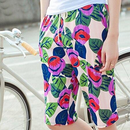2016 Hot Sale Sumer Holiday Men Beach Shorts Floral Printed Causal Color Blue Green Plus Size Elastic Waist Beachwear