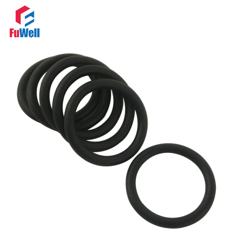 50 Pcs 24mm x 1.5mm Rubber O-rings NBR Heat Resistant Sealing Ring Grommets