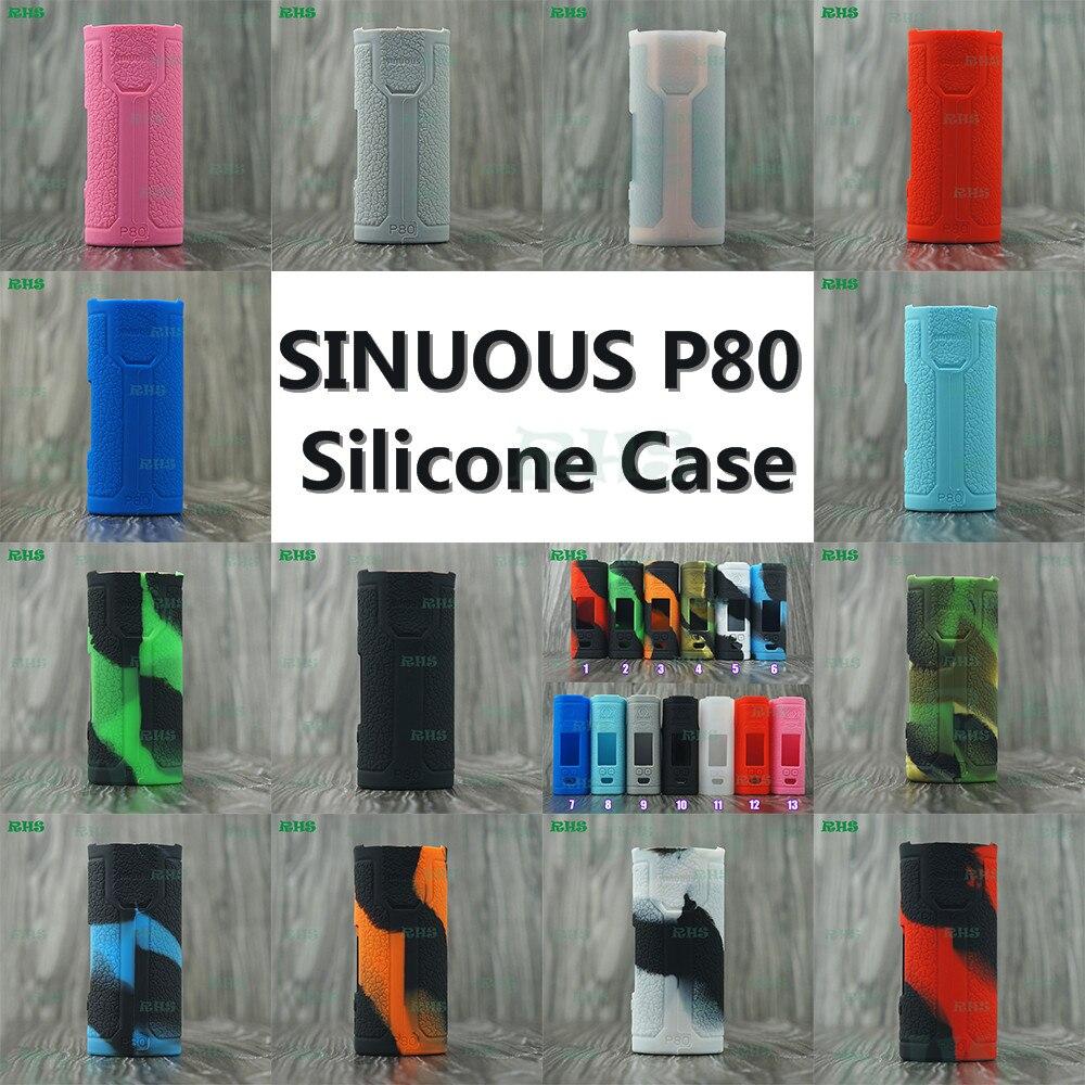 2017 neuesten Gestartet Silikon Fall Abdeckung fit für 80 watt Wismec SINUOUS P80 Kit 2 ml SINUOUS P80 mit günstige preis freies verschiffen