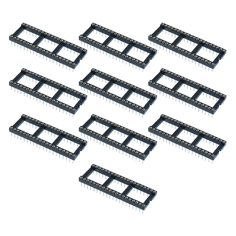10 x 40 Pin DIP/DIL Turned Pin IC Socket Connector 0.6inch Pitch