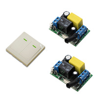 High Quality AC 220 V 1 CH Wireless Relay Remote Control Switch 2 Receivers 1 Transmitter