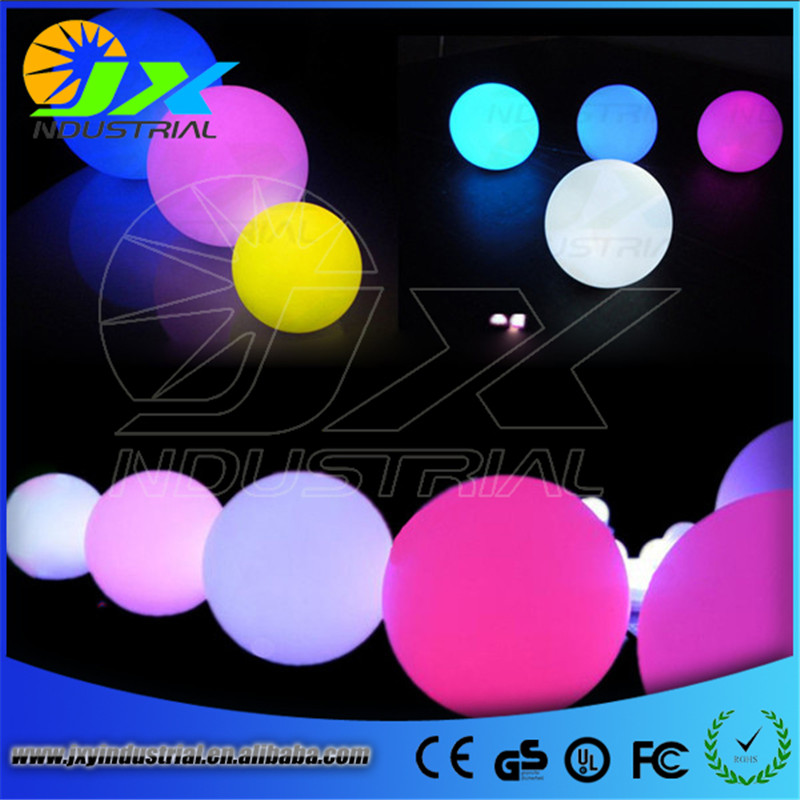 led rechargeable RGB ball light brightness Adjustable remote Diameter 15cm 6 5ft diameter inflatable beach ball helium balloon for advertisement