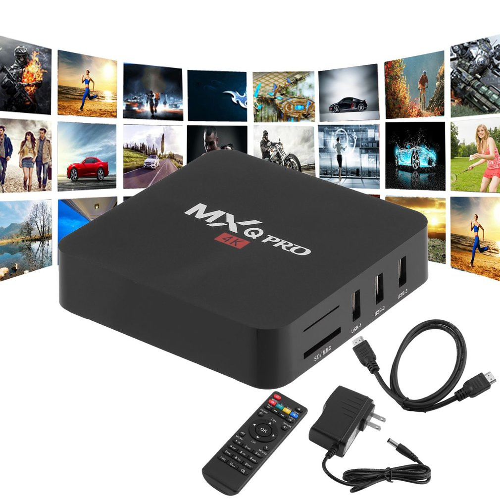 HOT PRO 1GB RAM+8GB ROM Quad Core Smart TV Box WiFi 4K Streaming Loaded Set Top Box For Android US Plug Smart Media Player myev tv box for japan korea oversea version with 8 core wifi 16g 4k built in japanese korean live tv and others no need any fee