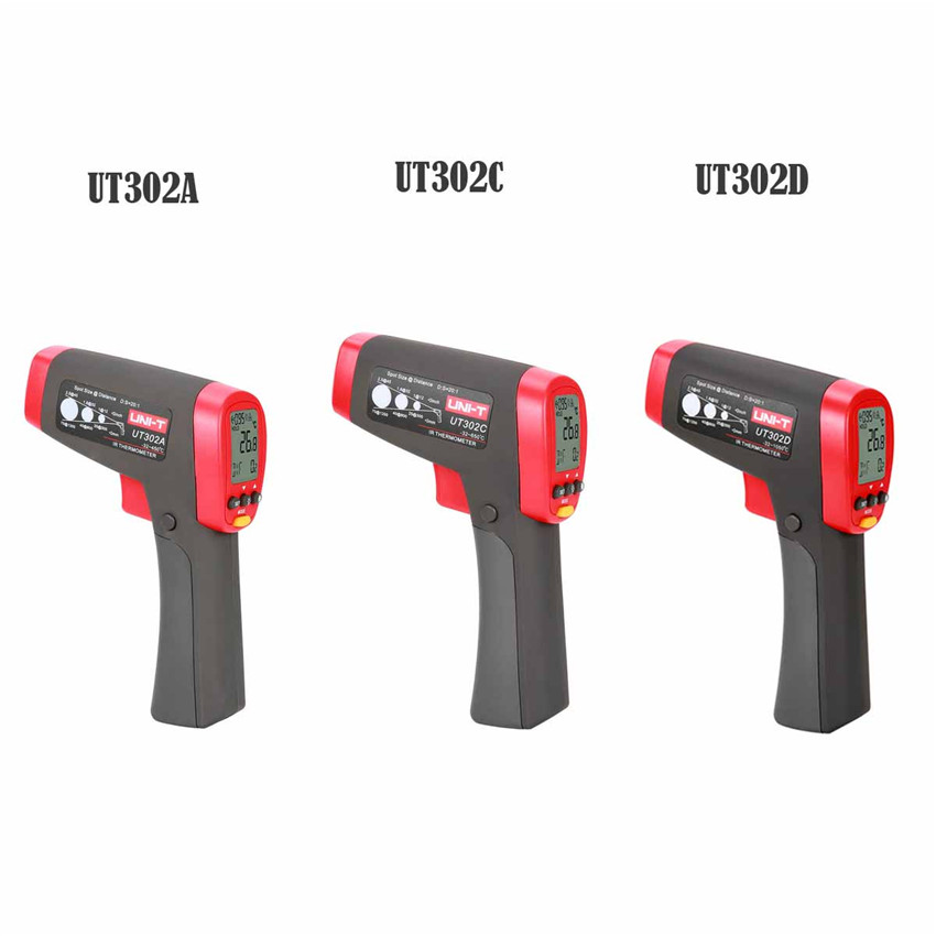 UNI-T UT302A/302C/UT302D Non Contact Laser Gun Infrared Thermometer LCD digital display Weather Station Infrared Thermometer bosch ghg 660 lcd 0 601 944 302