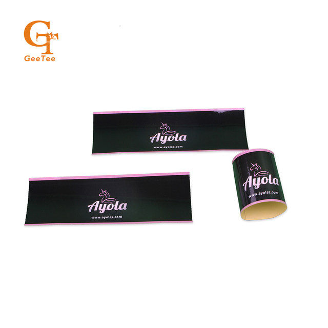 Online Shop Custom brand 100 Virgin Human hair wrap stickers